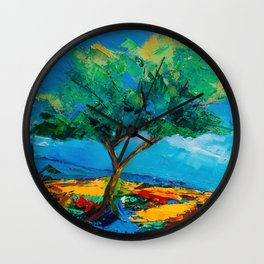 Lonely Olive Tree Wall Clock