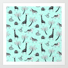 Safari Mint Art Print