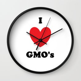I Love GMO's Wall Clock