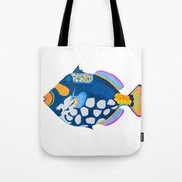 tropical powder blue fish Tote Bag