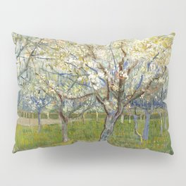 Orchard with Blossoming Apricot Trees by Vincent van Gogh Pillow Sham