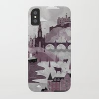 travel poster iPhone & iPod Cases featuring Edinburgh Travel Poster Illustration by ClaireIllustrations