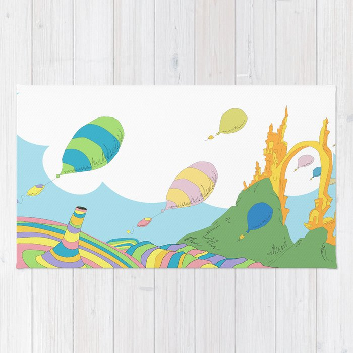 New oh the places you'll go .. dr seuss Rug by studiomarshallarts  RW13