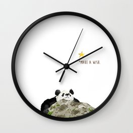Panda - Make a wish Wall Clock