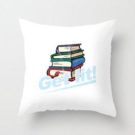 Get Lit Books Throw Pillow