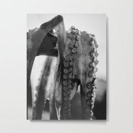 Fisherman with octopus, black & white, fine art photo, kitchen photography, fish shop, restaurant Ph Metal Print