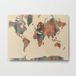 World Map - Navaho Metal Print