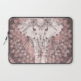 Bohemian, Elephant, Mandala, Blush, Moon Laptop Sleeve