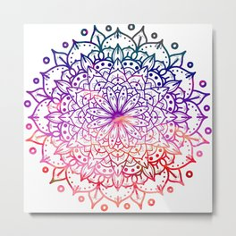 INTENSE SUNSET MANDALA Metal Print