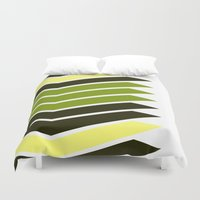 bender Duvet Covers featuring Pattern Bender Stripes Print by Bee :)