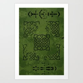 Celtic Camo Art Print