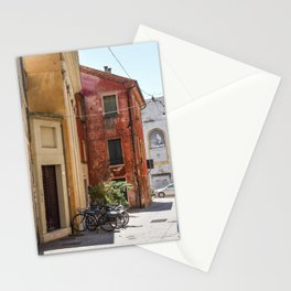 Italian Street and Bikes Stationery Cards
