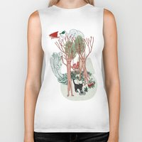insects Biker Tanks featuring A Stick-Insects Dream by Mirisch