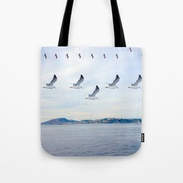 flight formations Tote Bag