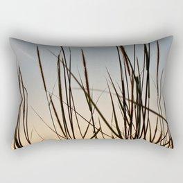 Wonderful sunset with teasel Rectangular Pillow