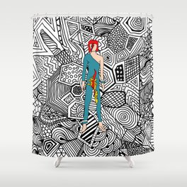 Heroes Fashion 8 Shower Curtain
