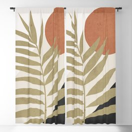 Tropical Leaf- Abstract Art 9 Blackout Curtain
