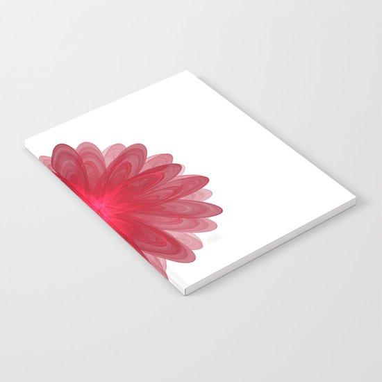Red Flower Bloom Fractal Notebook