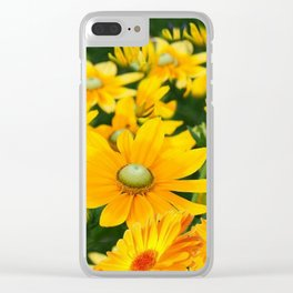 GOLDEN YELLOW  FLOWERS  GARDEN Clear iPhone Case