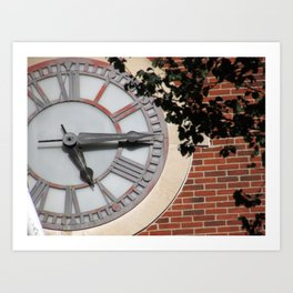 Keeping Time at University Hall Art Print