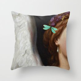 Angel With A Pearl Earring Throw Pillow