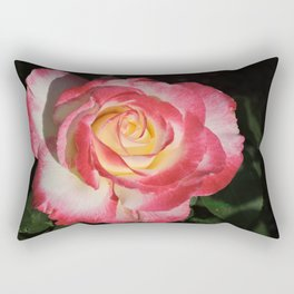 Multi-Hued Rose Rectangular Pillow