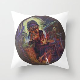The Wolf Woman Throw Pillow
