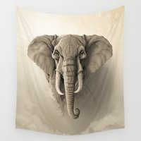 elephant Wall Tapestries featuring Elephant by Rafapasta