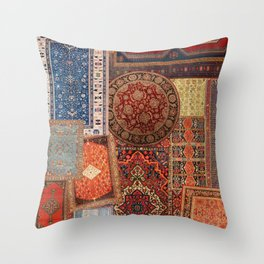 Antique Rugs 3 Throw Pillow