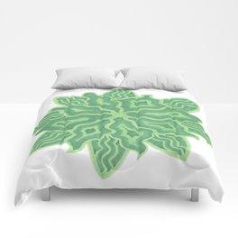 Emerald Flower Comforters