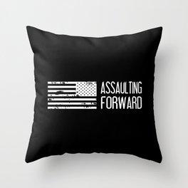 U.S. Military: Assaulting Forward Throw Pillow
