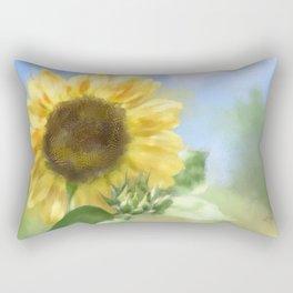 Sunny Sunflower Rectangular Pillow