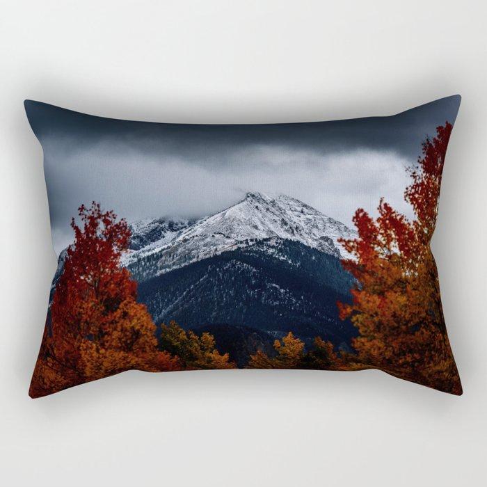 Dark mountains Rectangular Pillow