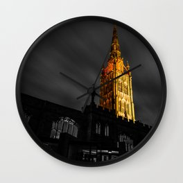The Golden Spire Wall Clock