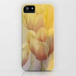 Tulips in golden light iPhone Case