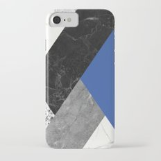 Black and white marbles and pantone lapis blue color Slim Case iPhone 7
