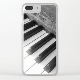 Piano Scars Clear iPhone Case