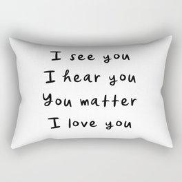 You Matter, Motivational Quote Rectangular Pillow