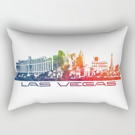 Las Vegas skyline color Rectangular Pillow