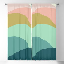 Abstract Mountains Blackout Curtain