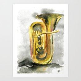 Solo tuba Art Print