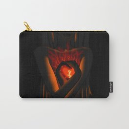 Beautiful Woman With Glowing Healing Heart Carry-All Pouch