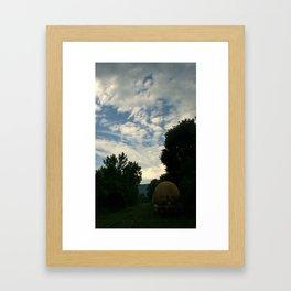 Back Line Framed Art Print