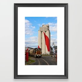 The Train and Triangle Framed Art Print