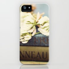vintage books and clovers Slim Case iPhone (5, 5s)