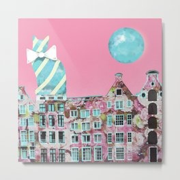 The Cat of Amsterdam Metal Print