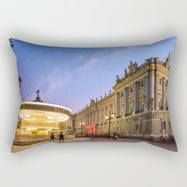 Royal Palace and carousel in Oriente Square, Madrid Rectangular Pillow