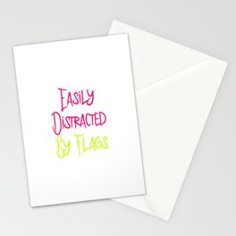 Easily Distracted By Flags Fun Vexillology Quote Stationery Cards