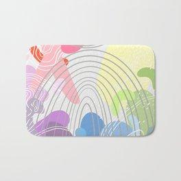 Blobby Rainbow  Bath Mat