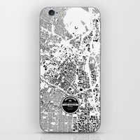 los angeles iPhone & iPod Skins featuring LOS ANGELES by Maps Factory